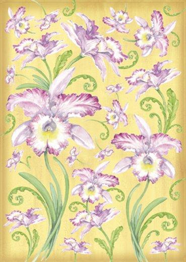 Hartie decoupage 80 gr, 50 x 70, Orchids - DFG275