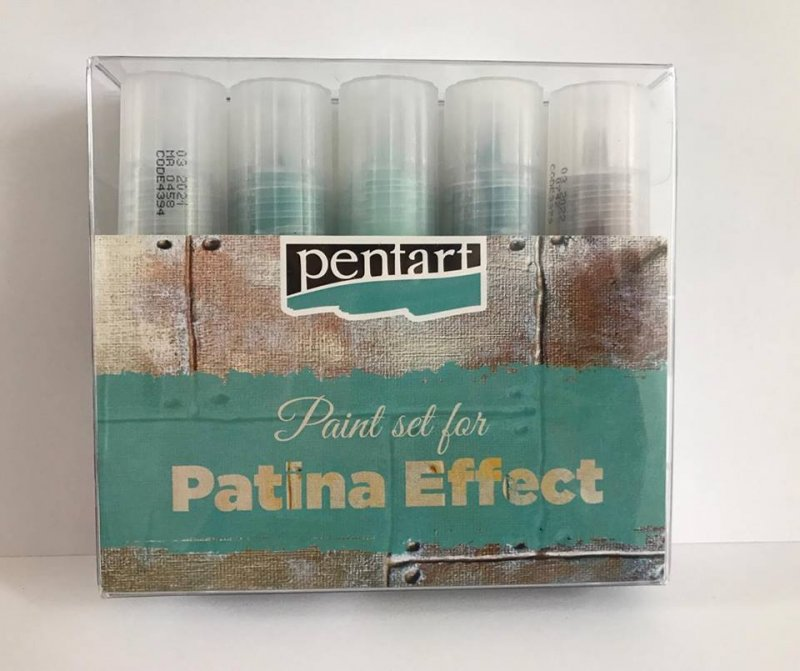 29763 - Set Patina Effect cupru - 5x20ml - Pentart