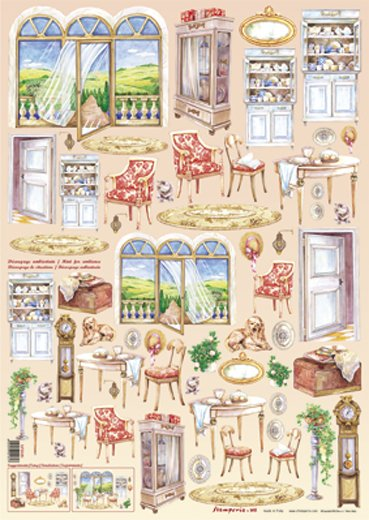Hartie decoupage 80 gr, 50 x 70, Living room - DFG181 - DISC