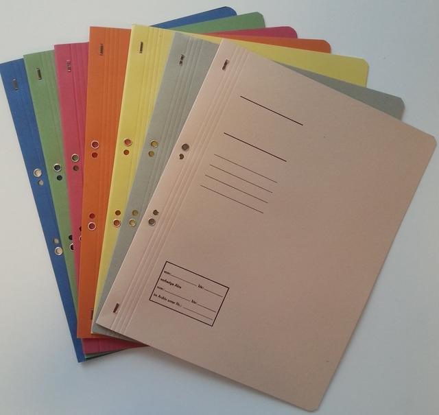 Dosar carton cu gauri 1/1 - diverse culori
