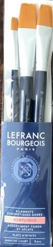 Set 3 pensule late, par sintetic - Lefranc Bourgeois