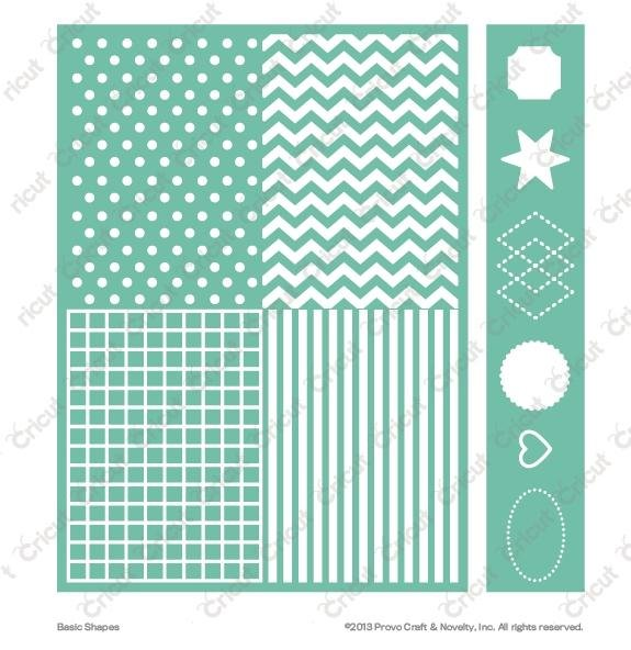 Placa si bordura embosare Basic Shapes - Cricut Cuttlebug
