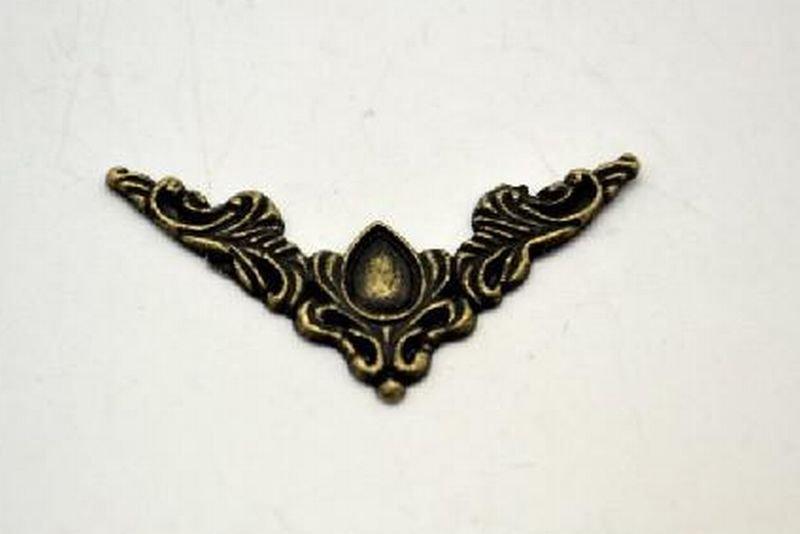366943 - Coltar metalic - nuanta bronz - 4x4cm - ANT-CH