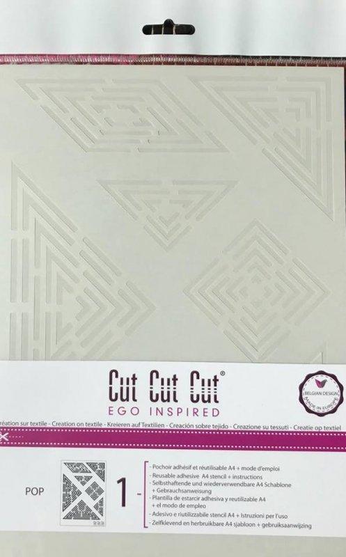 CT1A4002 Sablon A4 adeziv - Pop - Cut Cut Cut - Darwi