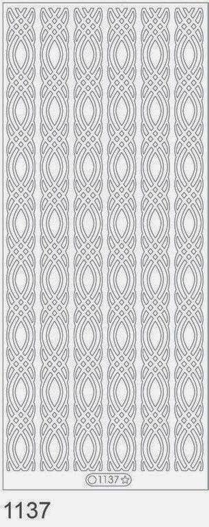 Sticker auriu - friza decorativa - 1137 - INTER D