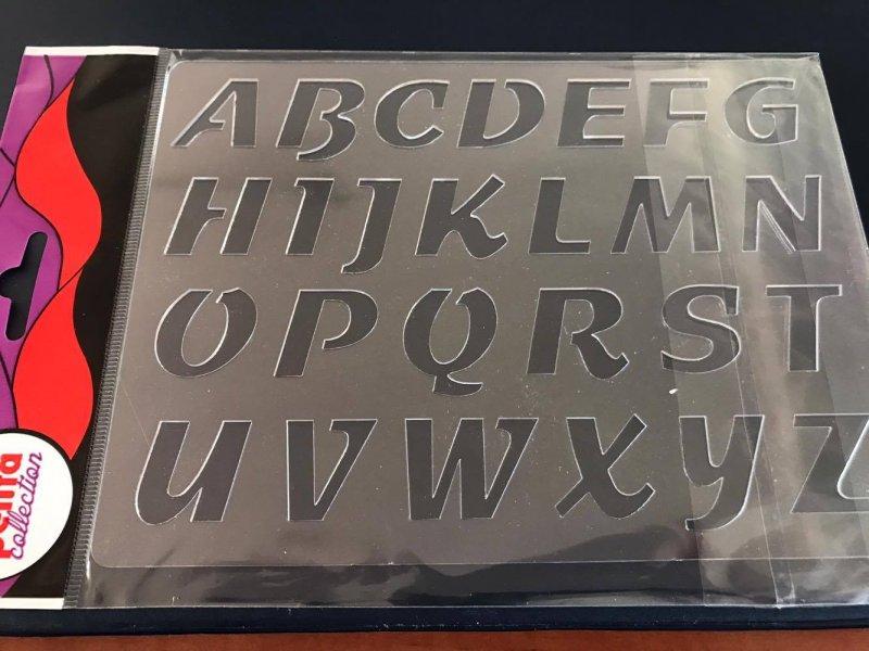 24103 - Sablon plastic A5 , 3D - S24 alfabet - Pentart