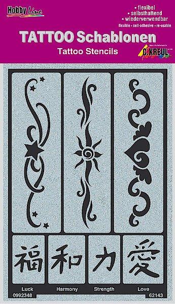 62143 Sablon tatuaje autoadeziv Ribbons 2 - C. Kreul