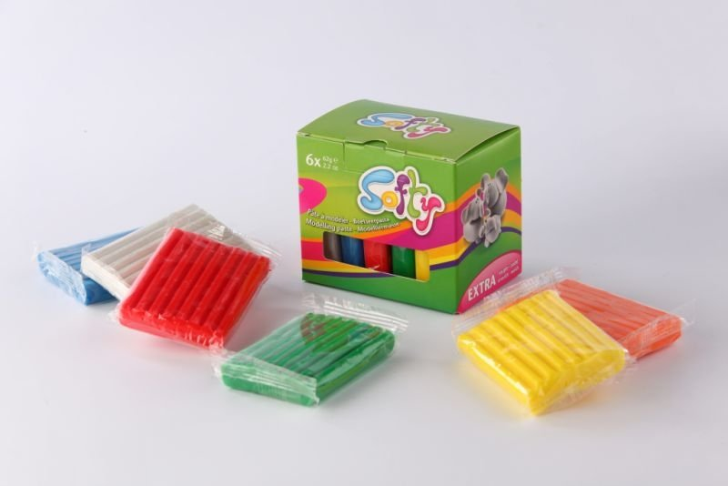 Set plastilina - Softy - 6x62gr - Darwi