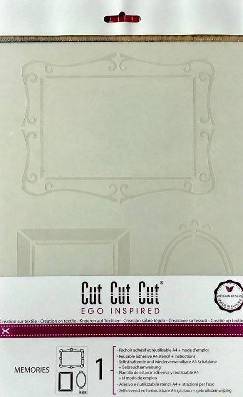 CT1A4005 Sablon A4 adeziv - Memories - Cut Cut Cut - Darwi