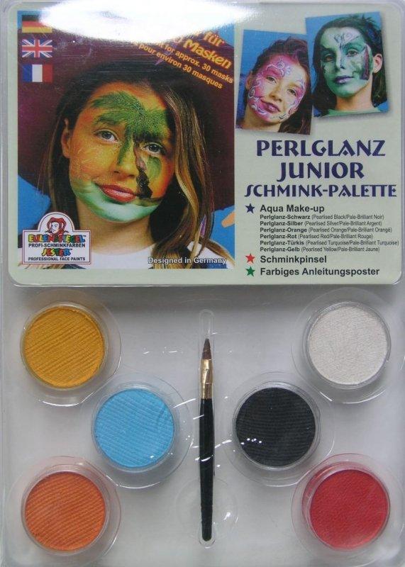 Set 6 culori face painting, Perlglanz junior - Eulenspiegel
