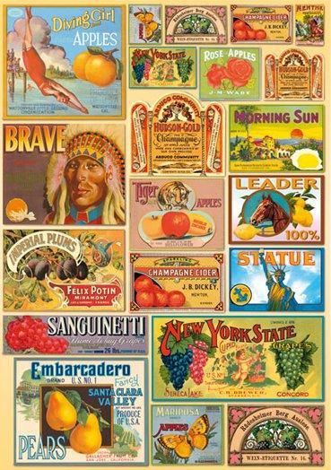 Hartie decoupage 80 gr, 50 x 70, - DFG321 Vintage labels-DISC