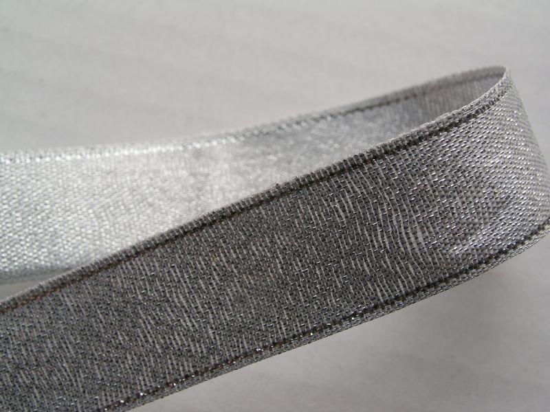 2504-20AG Panglica satin - 20mm 1m - argintie - EMID
