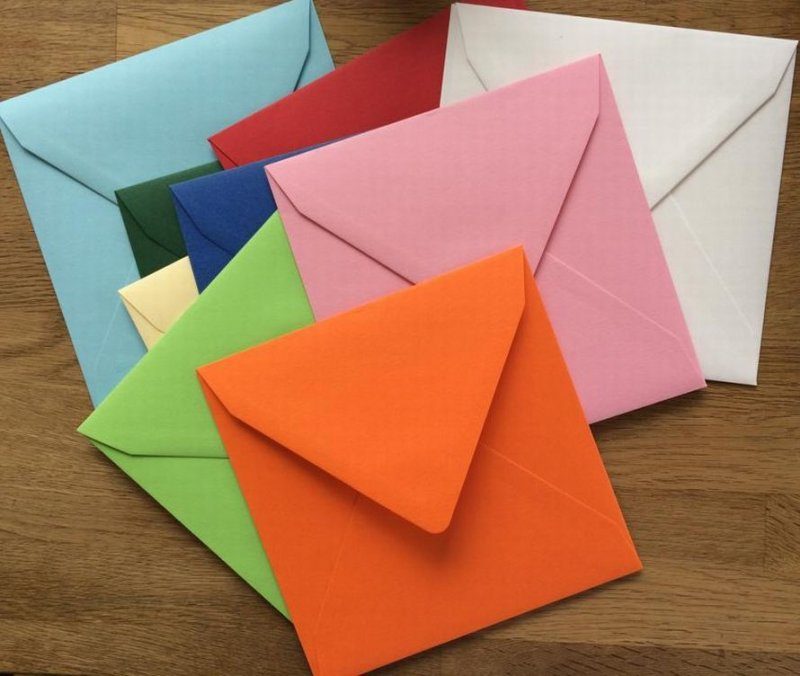 Set plic patrat 15.5 x 15.5 + carton invitatie + o coala 15 x 15 cm - Heyda