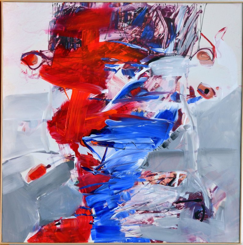 Tablou pe panza - Compozitie abstracta - 100x100cm