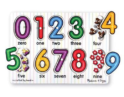 MD3273 - Puzzle lemn - Cifre, 2 ani plus