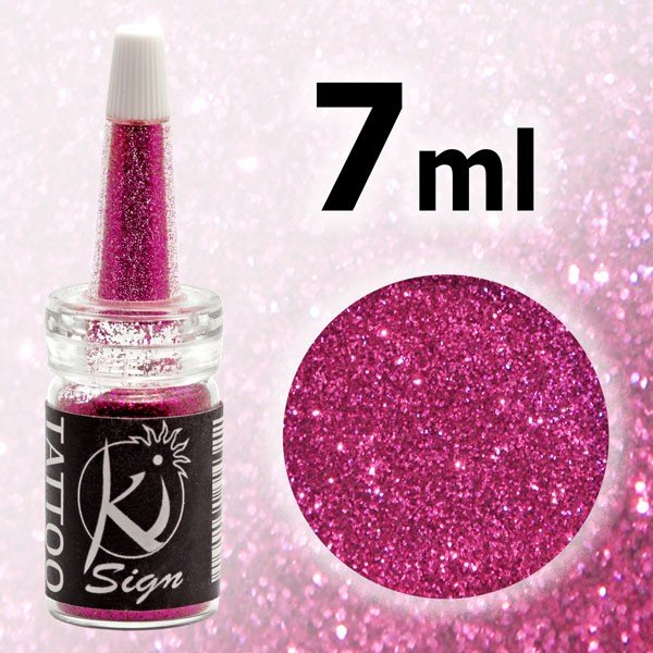 KS-GLI436A - Glitter 7ml pt. tatuaj si body painting - UV roz inchis - KI-SIGN