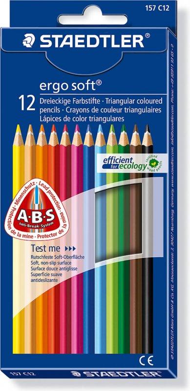 157-C12 Set 12 creioane Ergo Soft - Staedtler