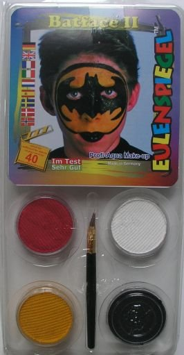 Set 4 culori face painting, Batface 2 - Eulenspiegel