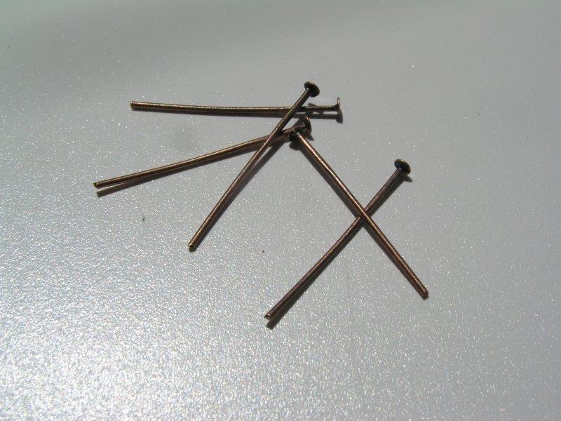 Set 100 ace cui, cupru - 2.5 cm