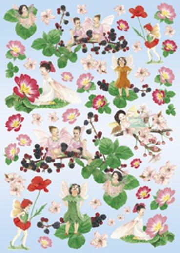 Hartie decoupage 80 gr, 50 x 70, Flowers Fairy - DFG247