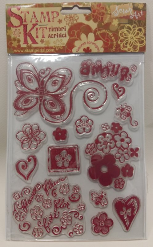 Kit stampile silicon - Stamperia -WTK002 , butterfly