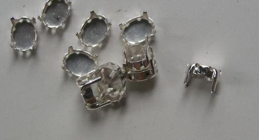 Accesoriu metalic argintiu 366351, 10 buc
