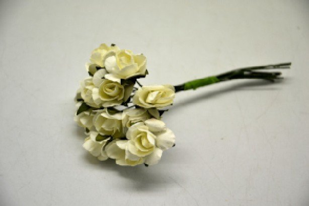 359330 - Buchet 12 trandafirasi hartie, ivory - ANT-CH
