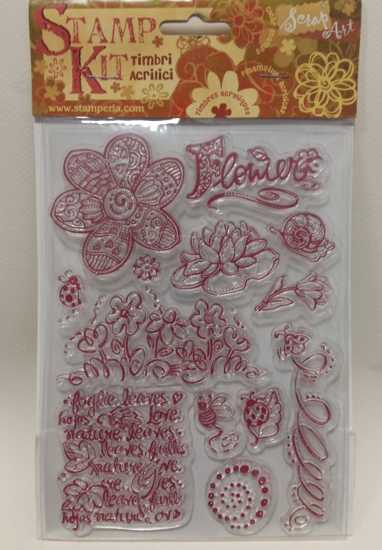 Kit stampile silicon - Stamperia -WTK012 , flower