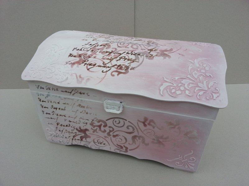 Cutie cufar pentru bani nunta - Decorata handmade, unicat 40 x 27,5 x h23.4 - Mix Media - C.ART