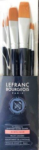 Set 6 pensule mixte, par sintetic - Lefranc Bourgeois