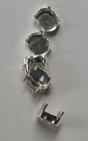 Accesoriu metalic argintiu 366352, 10 buc