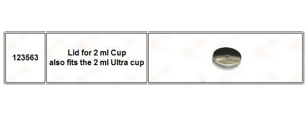 Capac pentru cupa de 2 ml - Harder&Steenbeck