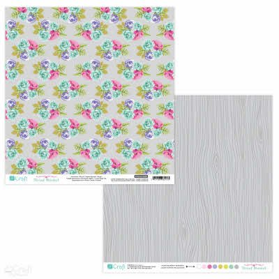 PYDU-014-P02 Hartie scrap booking - 30.5x30.5 Floral Market 2 - DP CRAFT