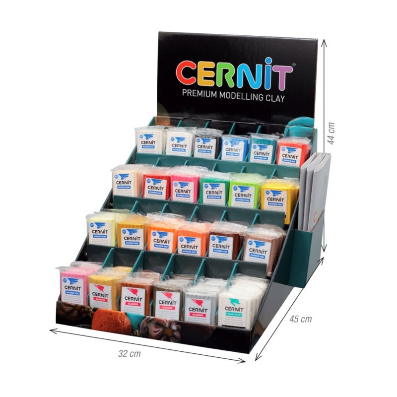 Display Cernit echipat - 24 x 6 x 56 gr