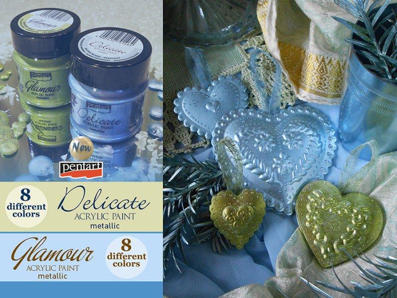 Culori metalizate - Delicate - 50ml - Pentart