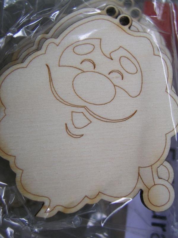 22884 Set 5 forme lemn - nr.123 - PENT, Mos Craciun