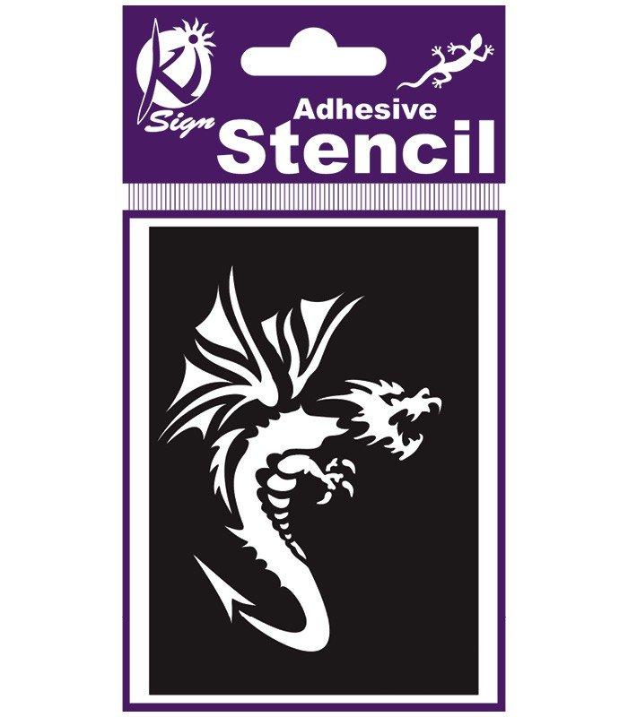 BS-018 Sablon adeziv repozitionabil 7x10cm - dragon - KI-SIGN