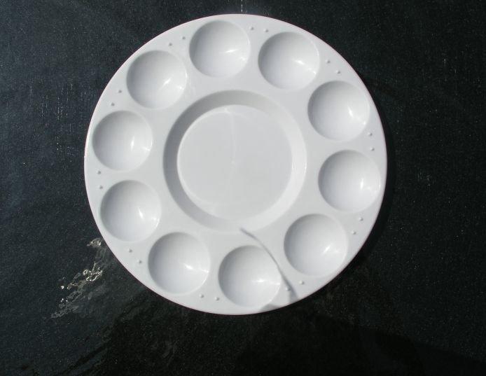 Paleta rotunda plastic 17cm 500025